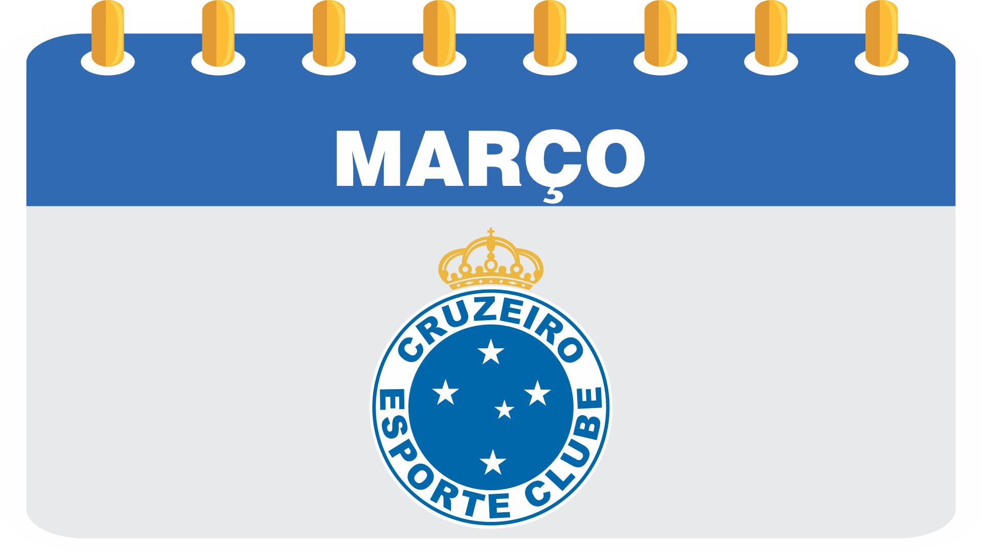 Calendário de março do Cruzeiro Esporte Clube