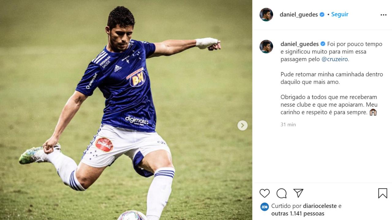 Daniel Guedes se despede
