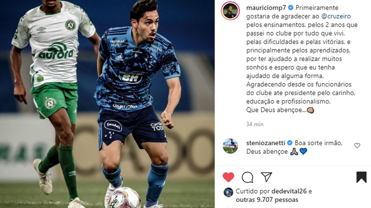 Maurício se despede do Cruzeiro